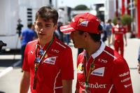Charles Leclerc y Marc Gene, Ferrari