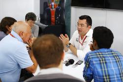 Eric Boullier, Racing Director, McLaren, including Adam Cooper, Dieter Rencken, Lawrence Barretto