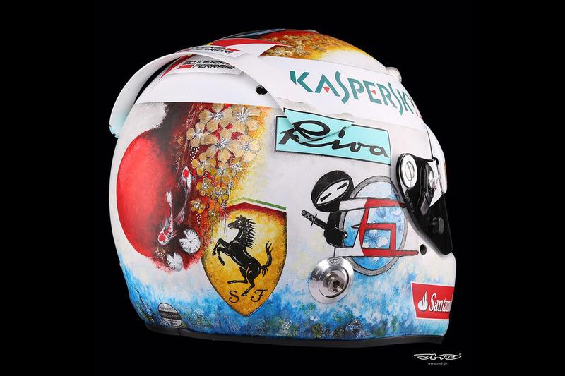 Helmet of Sebastian Vettel, Ferrari
