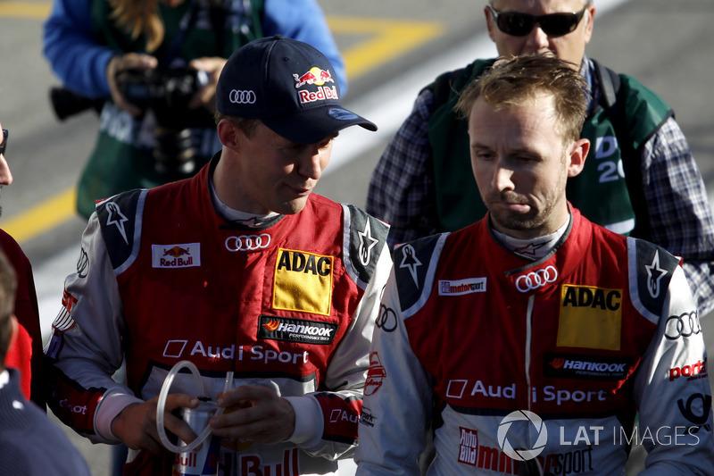 Маттіас Екстрьом, Audi Sport Team Abt Sportsline, Audi A5 DTM, та Рене Раст, Audi Sport Team Rosberg, Audi RS 5 DTM