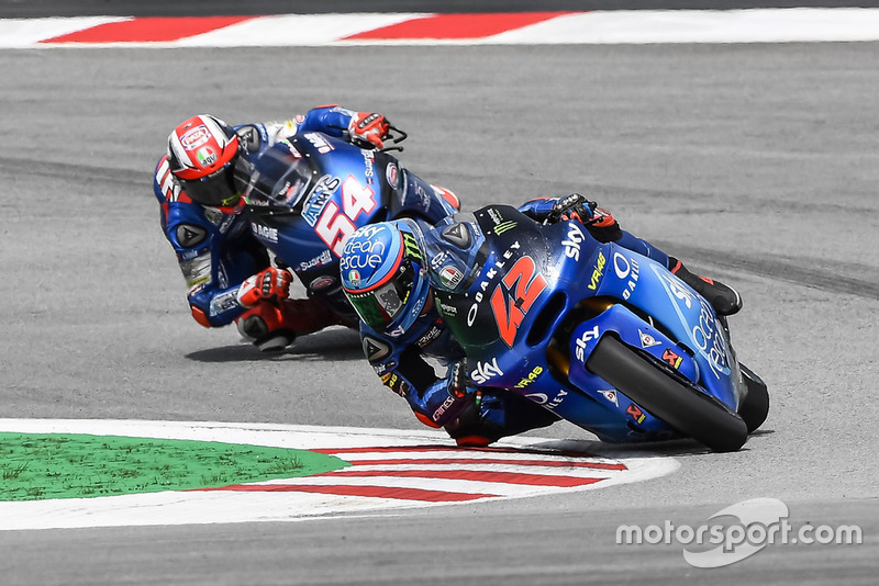 Mattia Pasini, Italtrans Racing Team, Francesco Bagnaia, Sky Racing Team VR46