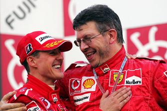 Michael Schumacher, Ferrari, Ross Brawn, Ferrari Technical Director