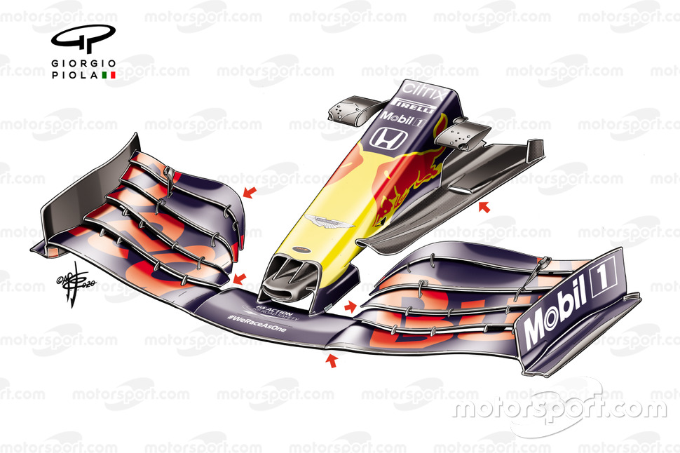 Red Bull Racing RB16 front wing, Turkish GP