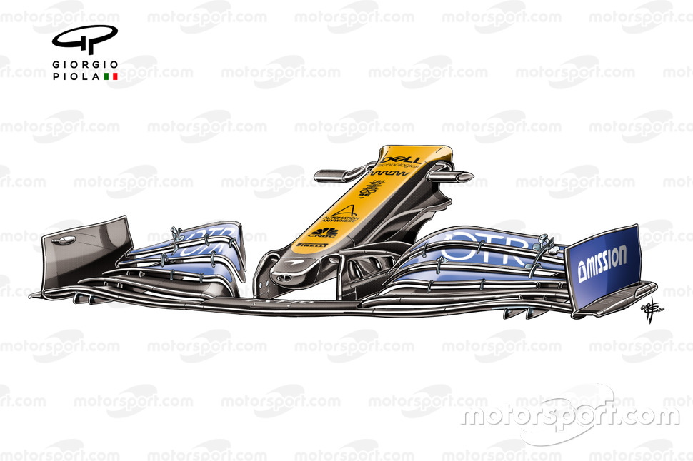 McLaren MCL35 front wing nose