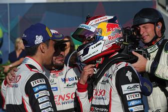 Winnaar Sebastien Buemi, Kazuki Nakajima, Fernando Alonso