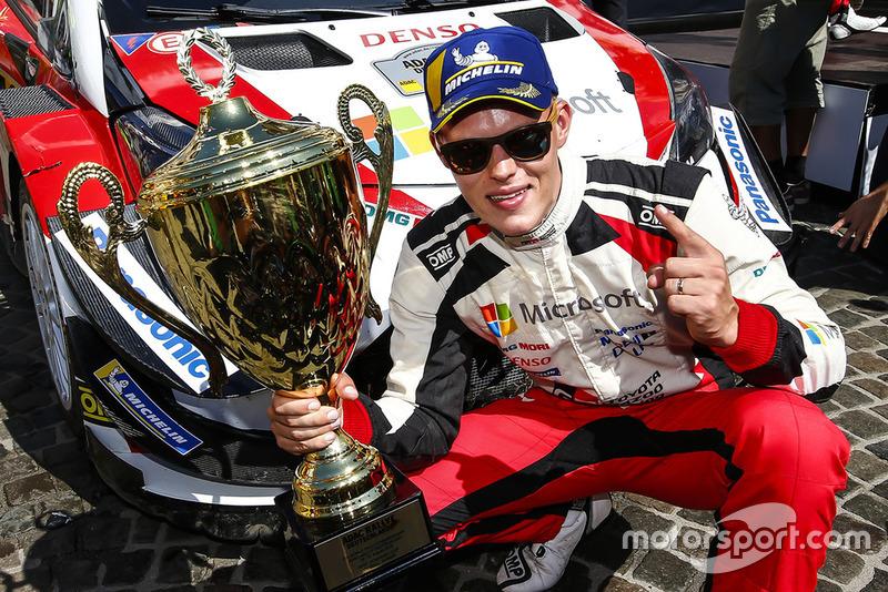 Победитель Отт Тянак, Toyota Gazoo Racing WRC