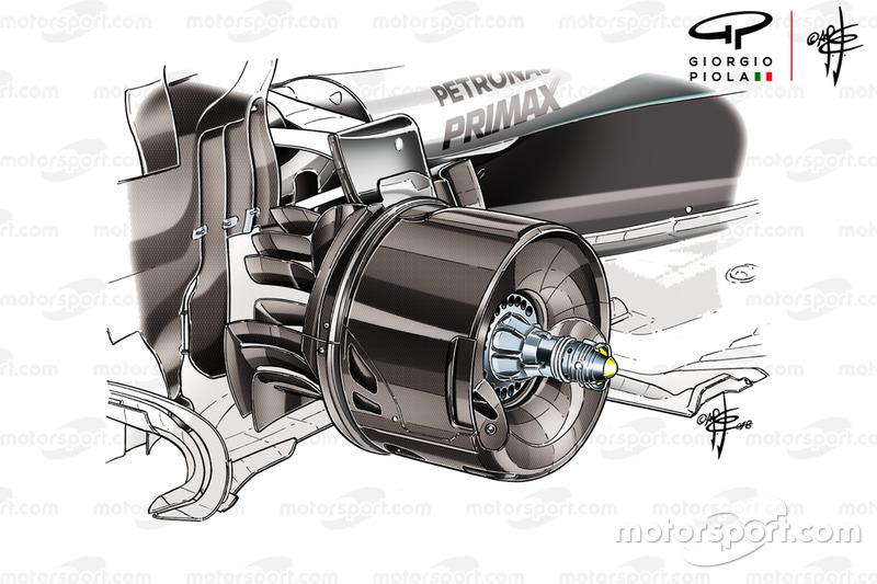 Mercedes AMG F1 W09 brake duct