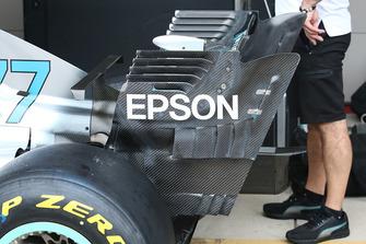 Mercedes AMG F1 W09: la paratia dell'ala posteriore