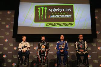 Finalteilnehmer der Monster Energy NASCAR Cup Series 2017: Brad Keselowski, Martin Truex Jr., Kyle Busch, Kevin Harvick