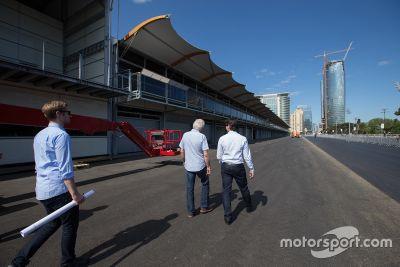 FIA delegate Baku City Circuit inspection