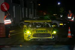 Stop and go for #75 Mann Filter Team Zakspeed, Mercedes-AMG GT3: Kenneth Heyer, Sebastian Asch, Luca Ludwig, Daniel Keilwitz