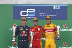 Podium: Norman Nato, Racing Engineering; Pierre Gasly, PREMA Racing and Antonio Giovinazzi, PREMA Racing