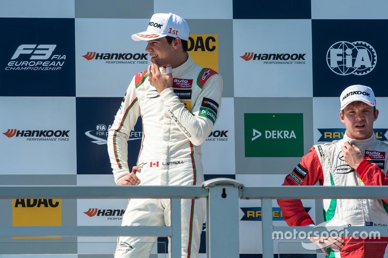 Podyum:  Lance Stroll, Prema Powerteam Dallara F312 - Mercedes-Benz, Nick Cassidy, Prema Powerteam Dallara F312 - Mercedes-Benz