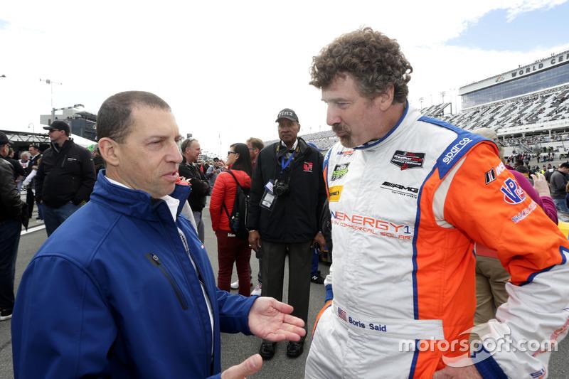 Rob Kaufmann met Boris Said, SunEnergy1 Racing