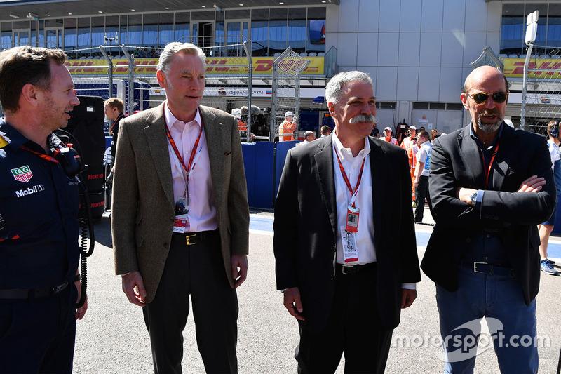 Christian Horner, Red Bull Racing Team Principal, Sean Bratches, Formula One Managing Director, Comm