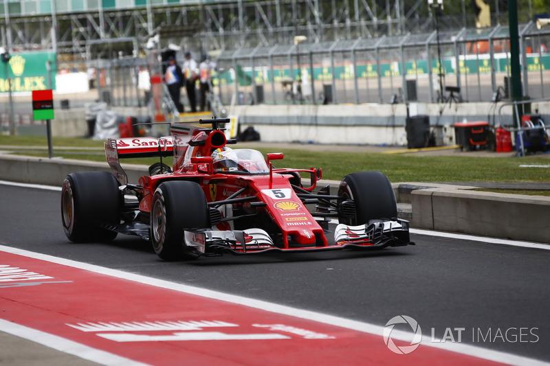 Себастьян Феттель, Ferrari SF70H, в кок-піті з Щитом