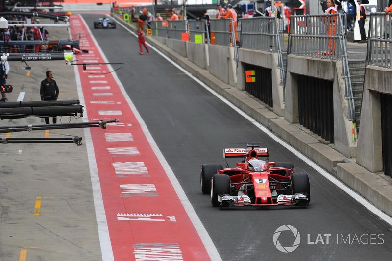 Sebastian Vettel, Ferrari SF70H, kokpit kalkanı