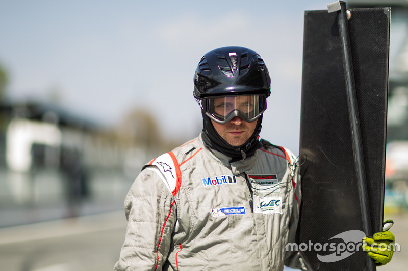 Un membro del Team Porsche