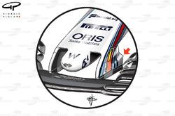 Williams FW40 new nose, captioned, British GP