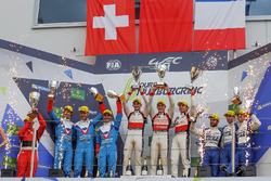 LMP2 Podium: first place Ho-Pin Tung, Oliver Jarvis, Thomas Laurent, DC Racing, second place Julien