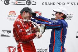 1. Sébastien Bourdais, Dale Coyne Racing, Honda; 3. Scott Dixon, Chip Ganassi Racing, Honda