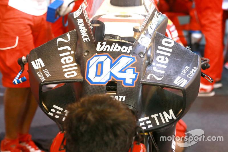 Andrea Dovizioso, equipo de Ducati, nuevo carenado aerodinámico winglet