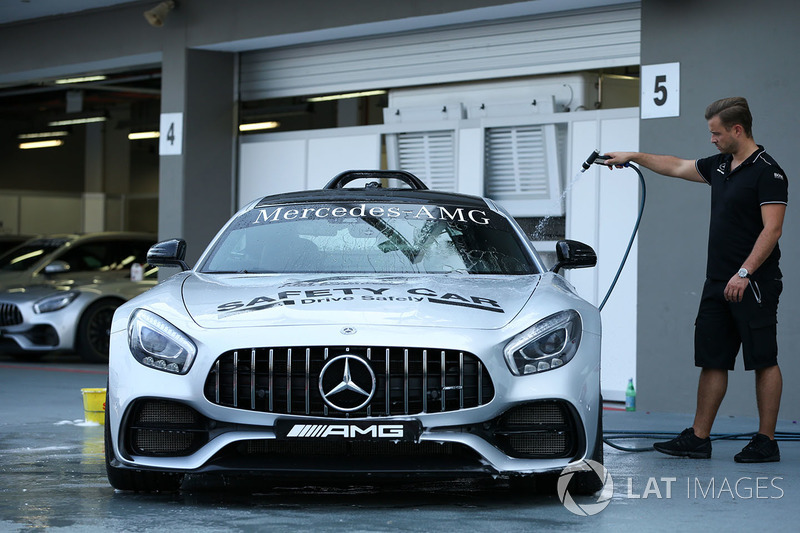 Safety Car is washed