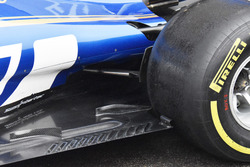 Sauber C36, side pods
