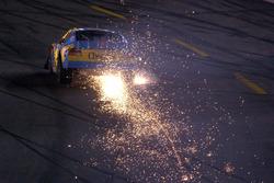 John Andretti sending up a shower of sparks