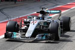 Valtteri Bottas, Mercedes AMG F1 W08 with aero sensor
