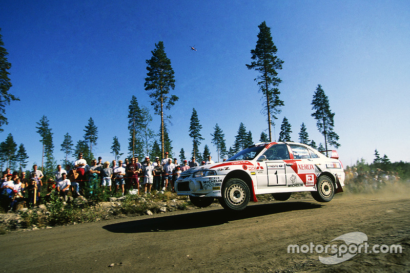 Tommi Makinen, Seppo Harjanne, Ralliart Mitsubishi Lancer Evo4