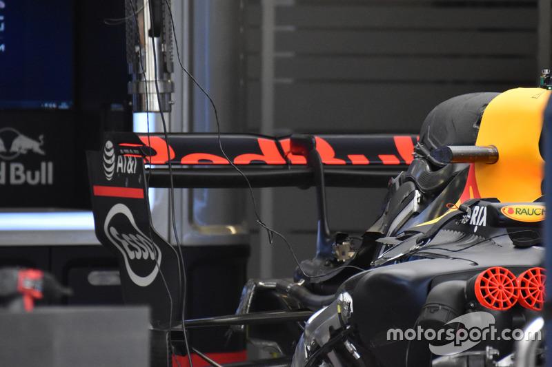 Alerón trasero del Red Bull Racing RB13