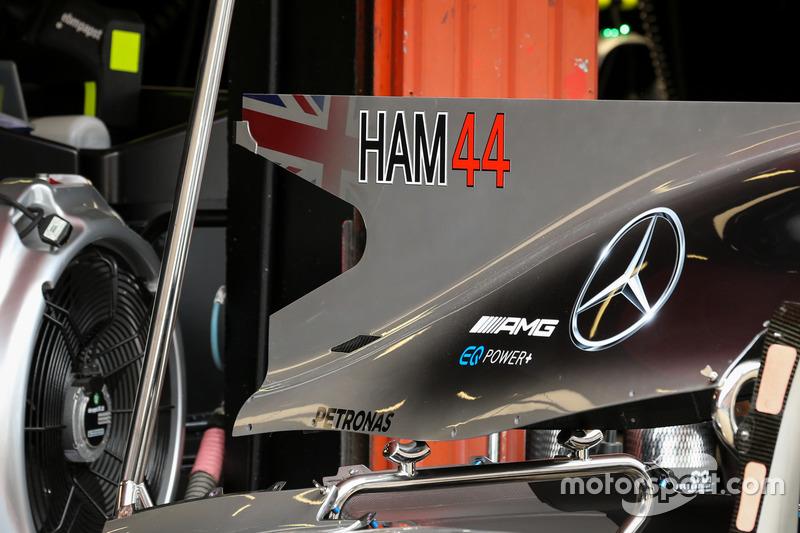 Mercedes-Benz F1 W08 detalle chasis