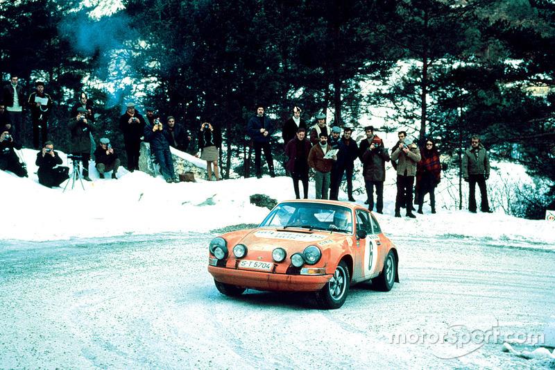 Bjorn Waldegard, Lars Helmer, Porsche 911 S en el Rally de Montecarlo 1970