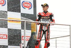 Podium : troisième place pour Chaz Davies, Ducati Team