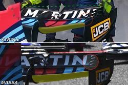 Williams FW40, rear wing comparison