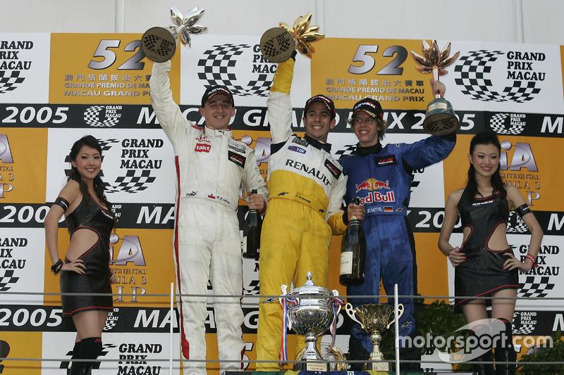 Podium: ganador, Lucas di Grassi, Manor Motorsport; segundo, Robert Kubica, Carlin; tercero, Sebasti