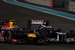 Pastor Maldonado, Williams FW34, and Mark Webber, Red Bull Racing RB8