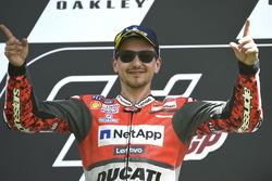 Podium: winnaar Jorge Lorenzo, Ducati Team