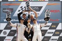 #7 Acura Team Penske Acura DPi, P: Helio Castroneves, Ricky Taylor, podium, Tim Cindric, Art St. Cyr