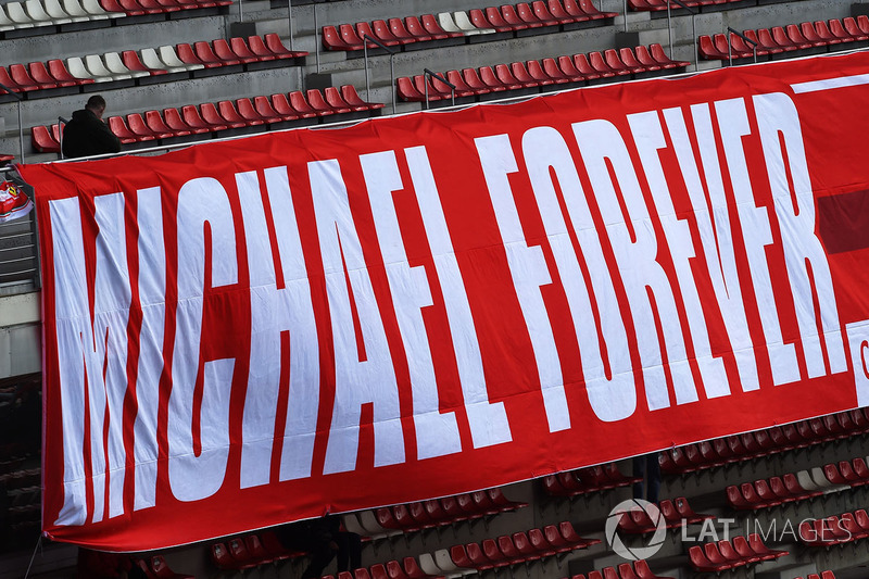 Fans banner for Michael Schumacher