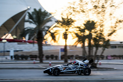 Karl Massad, driving the Ariel Atom Cup in ROC Factor Middle East