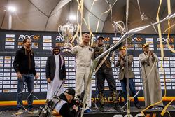 El ganador David Coulthard y Petter Solberg