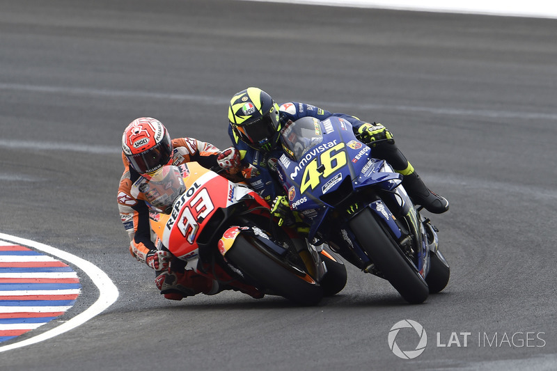 Marc Marquez, Repsol Honda Team, Valentino Rossi, Yamaha Factory Racing crash