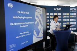 Anti-doping programme of the FIA, FIA Formula 3 European Championship