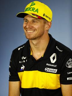 Nico Hulkenberg, Renault Sport F1 Team, nella conferenza stampa