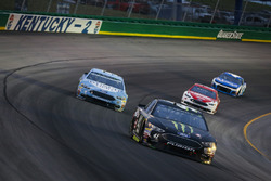 Kurt Busch, Stewart-Haas Racing, Ford Fusion Monster Energy / Haas Automation, Kevin Harvick, Stewart-Haas Racing, Ford Fusion Busch Light, Ryan Blaney, Team Penske, Ford Fusion DEX Imaging, and Kyle Larson, Chip Ganassi Racing, Chevrolet Camaro Credit One Bank