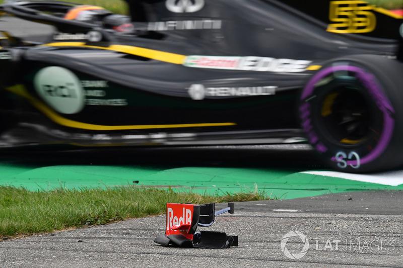 Debri sayap depan dari Brendon Hartley, Scuderia Toro Rosso STR13