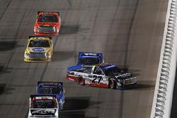 Ben Rhodes, ThorSport Racing Toyota, Austin Cindric, Brad Keselowski Racing Ford, crash