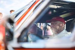 Niki Lauda, BMW 3.6 CSL Alpina during the Legends Parade